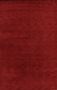 Contemporary Red Gabbeh Oriental Area Rug 6x9