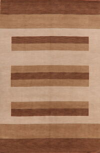 Contemporary Stripe Gabbeh Oriental Area Rug 6x9