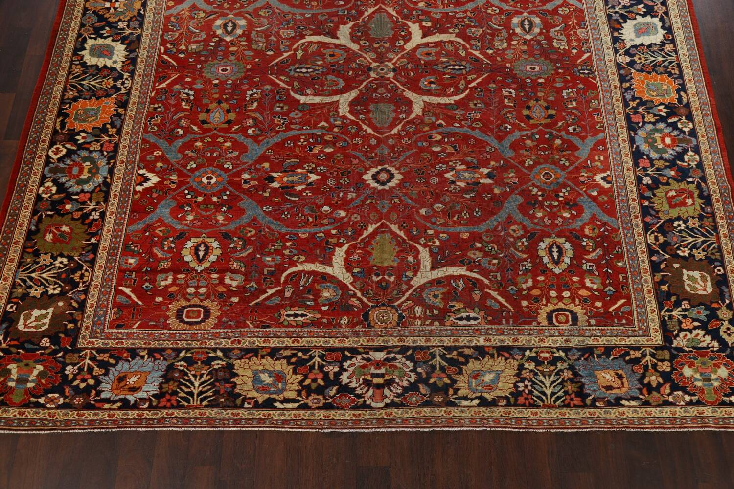 Pre-1900 Antique Sultanabad Vegetable Dye Persian Rug 11x14 image 5