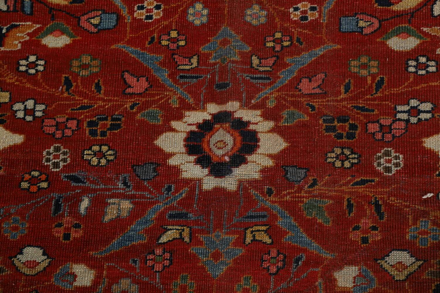 Pre-1900 Antique Sultanabad Vegetable Dye Persian Rug 11x14 image 12