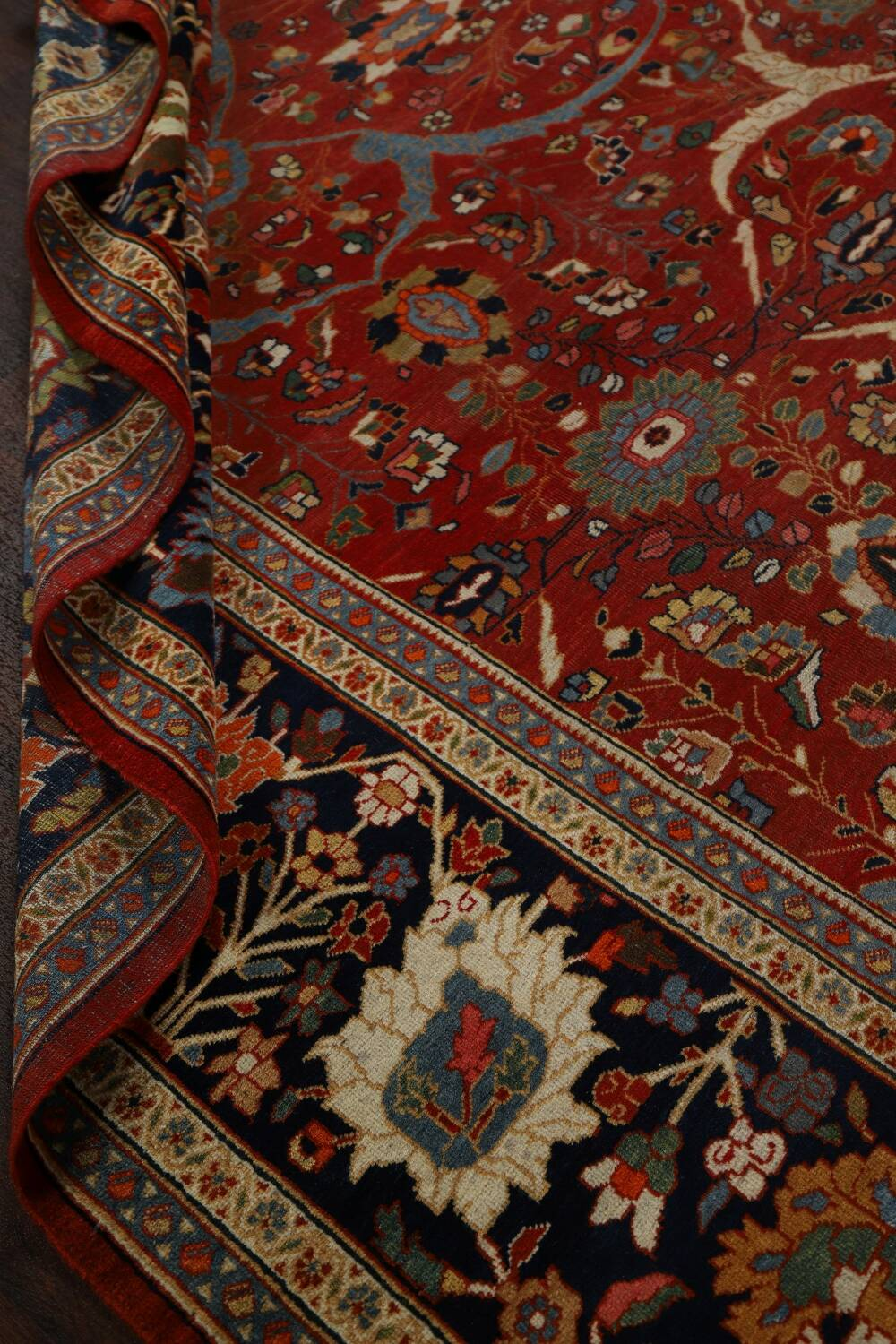 Pre-1900 Antique Sultanabad Vegetable Dye Persian Rug 11x14 image 19