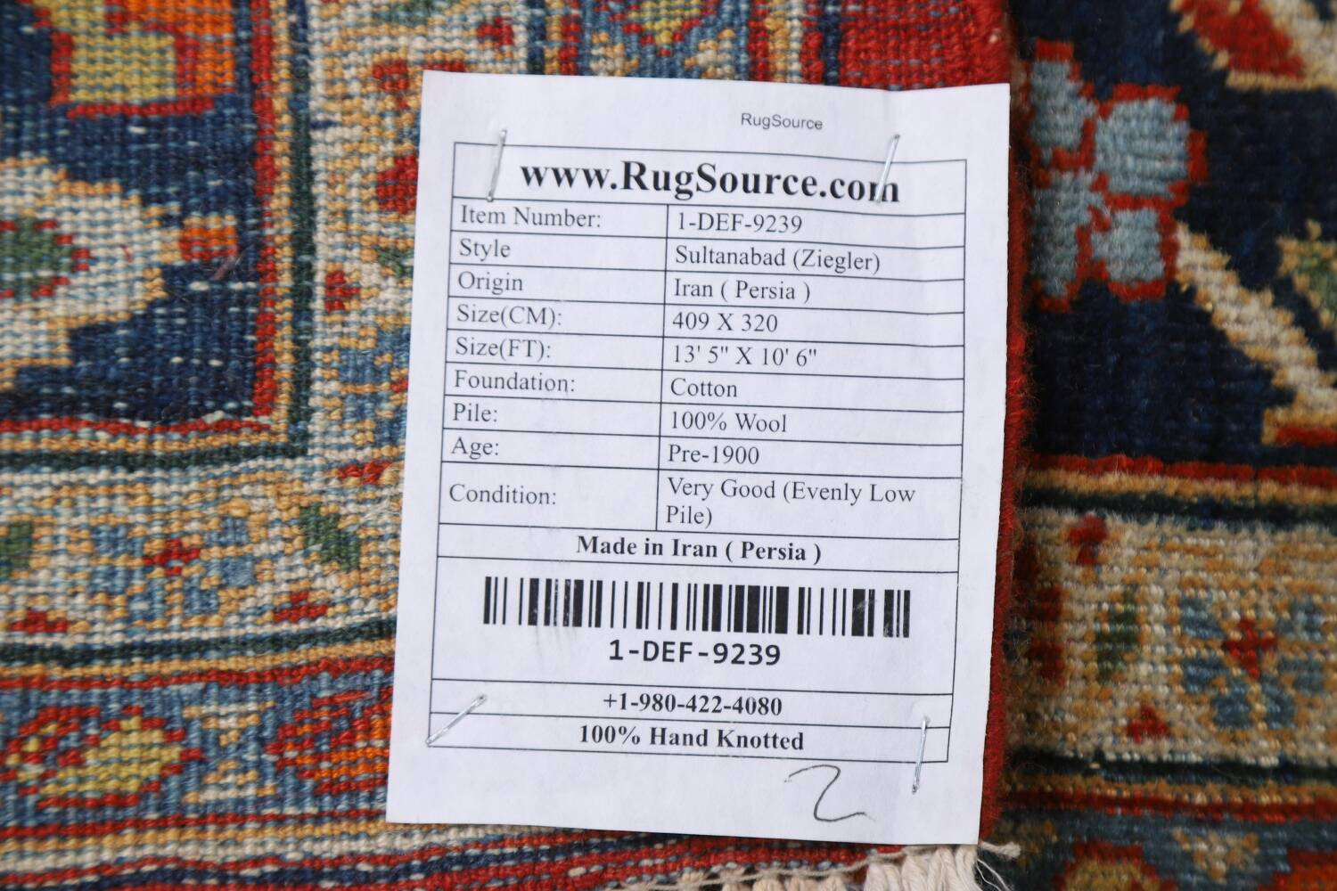 Pre-1900 Antique Sultanabad Vegetable Dye Persian Rug 11x14 image 23