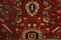 Pre-1900 Antique Sultanabad Vegetable Dye Persian Rug 11x14 image 11