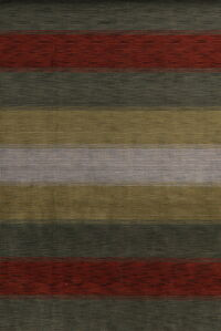 Contemporary Stripe Gabbeh Oriental Area Rug 7x10