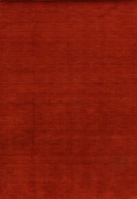 Solid Red Gabbeh Oriental Area Rug 6x9