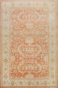 Antique Vegetable Dye Oushak Turkish Area Rug 9x12