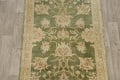 Vegetable Dye Floral Green Oushak Egyptian Area Rug 4x6 image 3