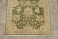 Vegetable Dye Floral Green Oushak Egyptian Area Rug 4x6 image 8