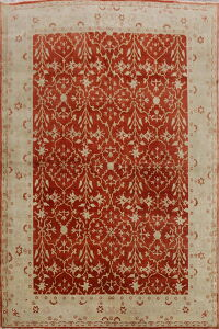 Vegetable Dye All-Over Oushak Egyptian Area Rug 8x11