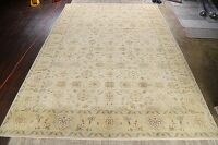 Vegetable Dye Floral Oushak Egyptian Area Rug 14x20