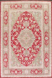 Vegetable Dye Animal Pictorial Oushak Turkish Area Rug 9x12