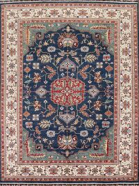 Vegetable Dye Heriz Oriental Navy Blue Area Rug 8x10