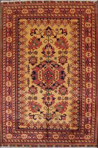 Vegetable Dye Super Kazak Oriental Area Rug 7x11