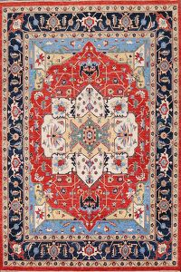 100% Vegetable Dye Heriz Serapi Oriental Area Rug 8x10