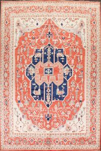 100% Vegetable Dye Heriz Serapi Oriental Area Rug 9x12