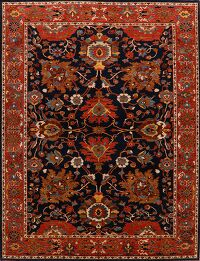 All-Over Floral Sultanabad Ziegler Oriental Area Rug 10x14