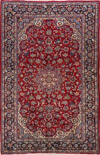 Floral Najafabad Persian Red Area Rug 7x11