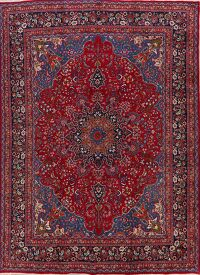 Floral Mashad Persian Red Area Rug 10x13