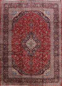 Floral Kashan Persian Red Area Rug 10x14