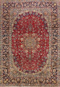 Vintage Floral Najafabad Persian Red Area Rug 10x14