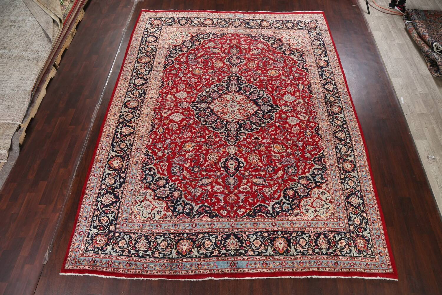 Floral Kashmar Persian Red Area Rug 10x13 image 2