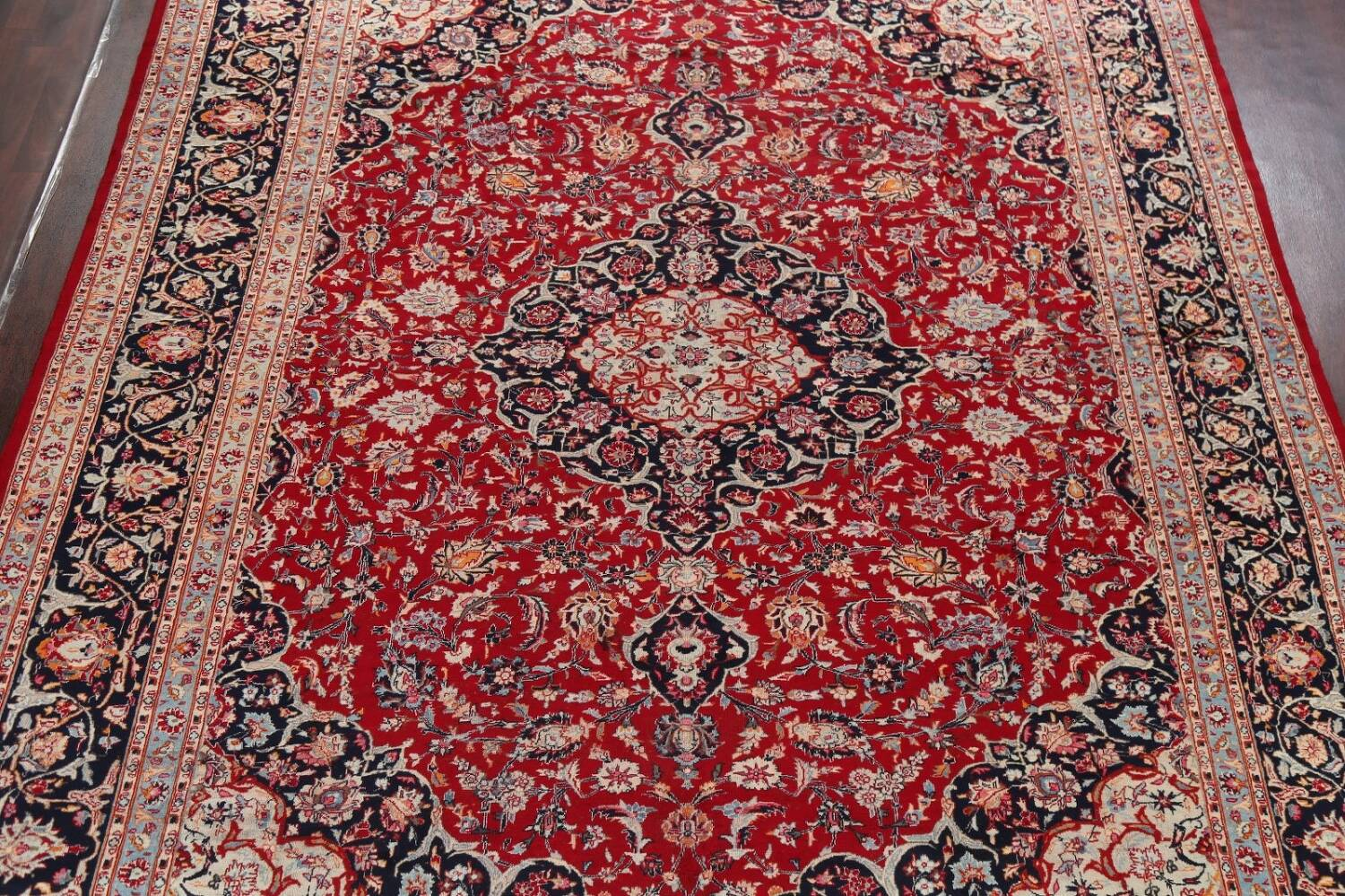 Floral Kashmar Persian Red Area Rug 10x13 image 3