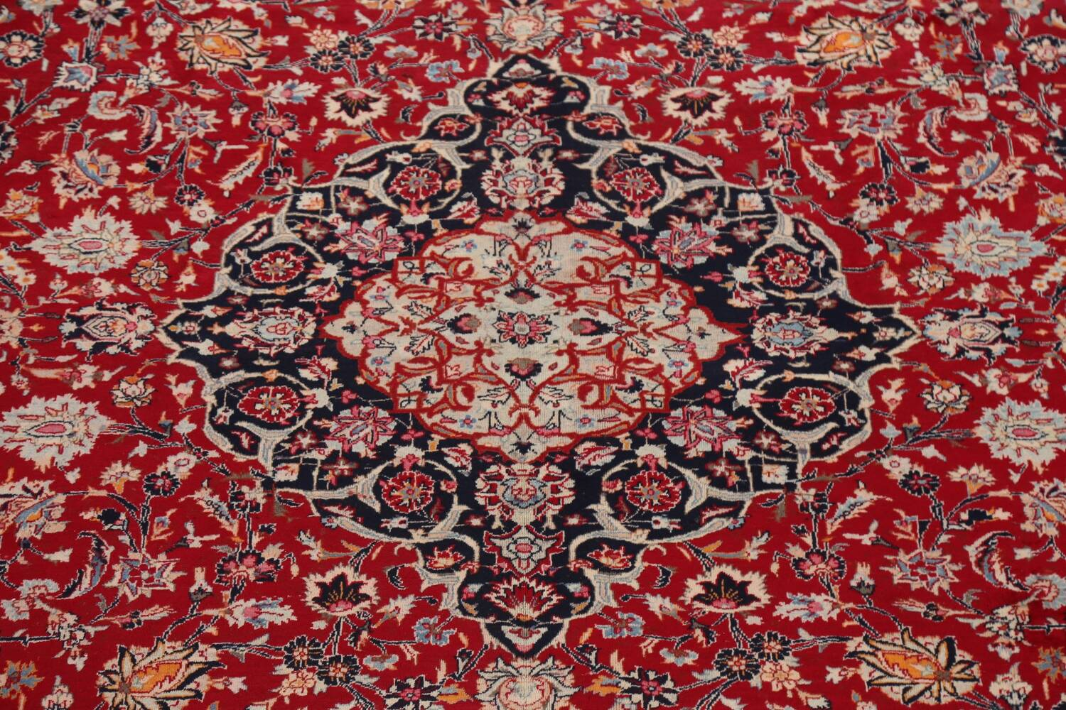 Floral Kashmar Persian Red Area Rug 10x13 image 4