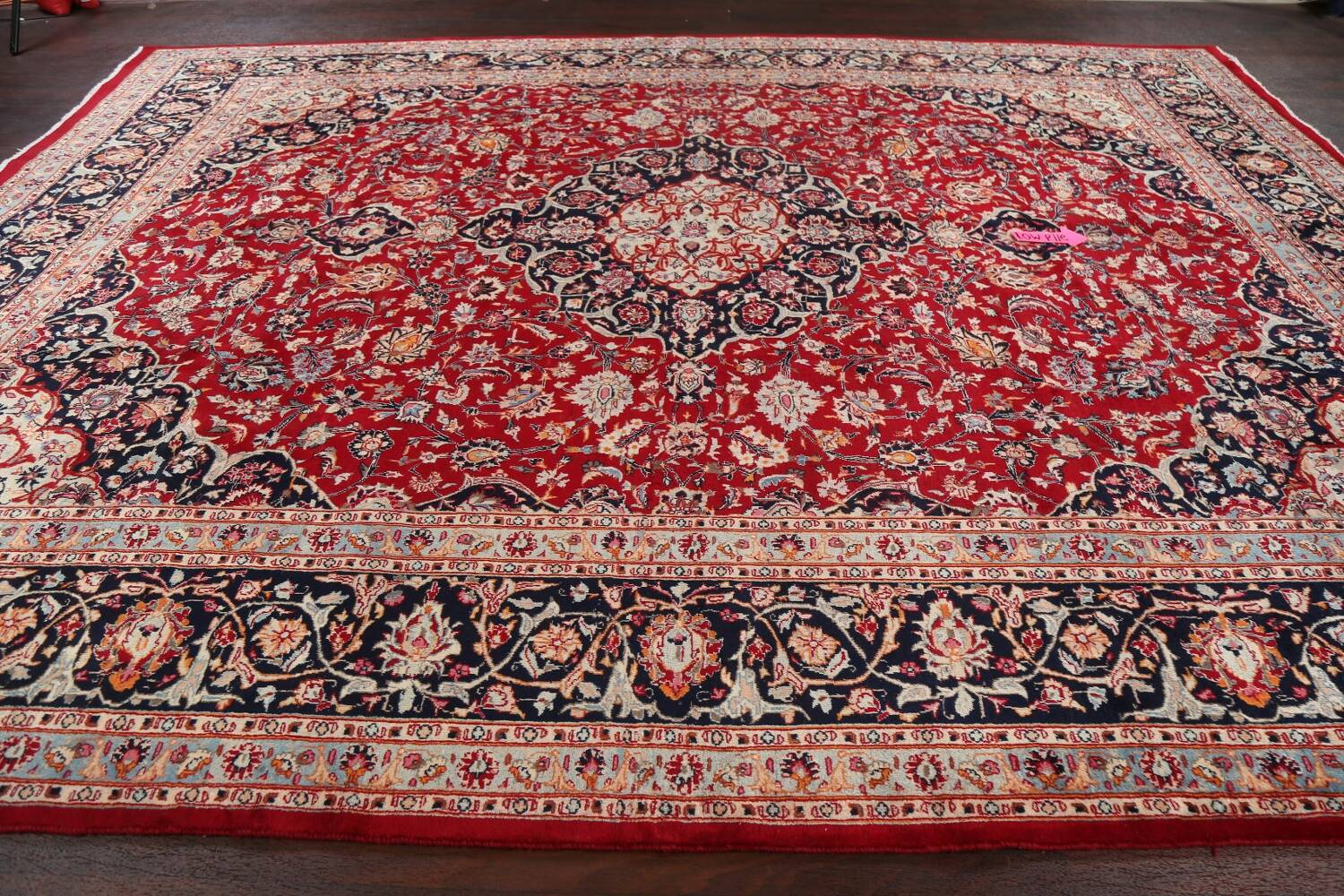 Floral Kashmar Persian Red Area Rug 10x13 image 14