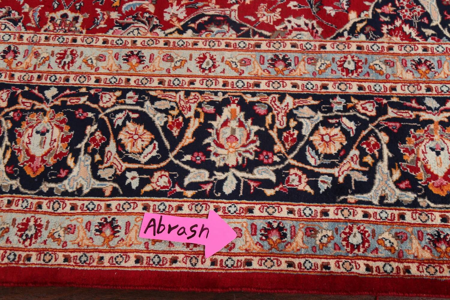 Floral Kashmar Persian Red Area Rug 10x13 image 15