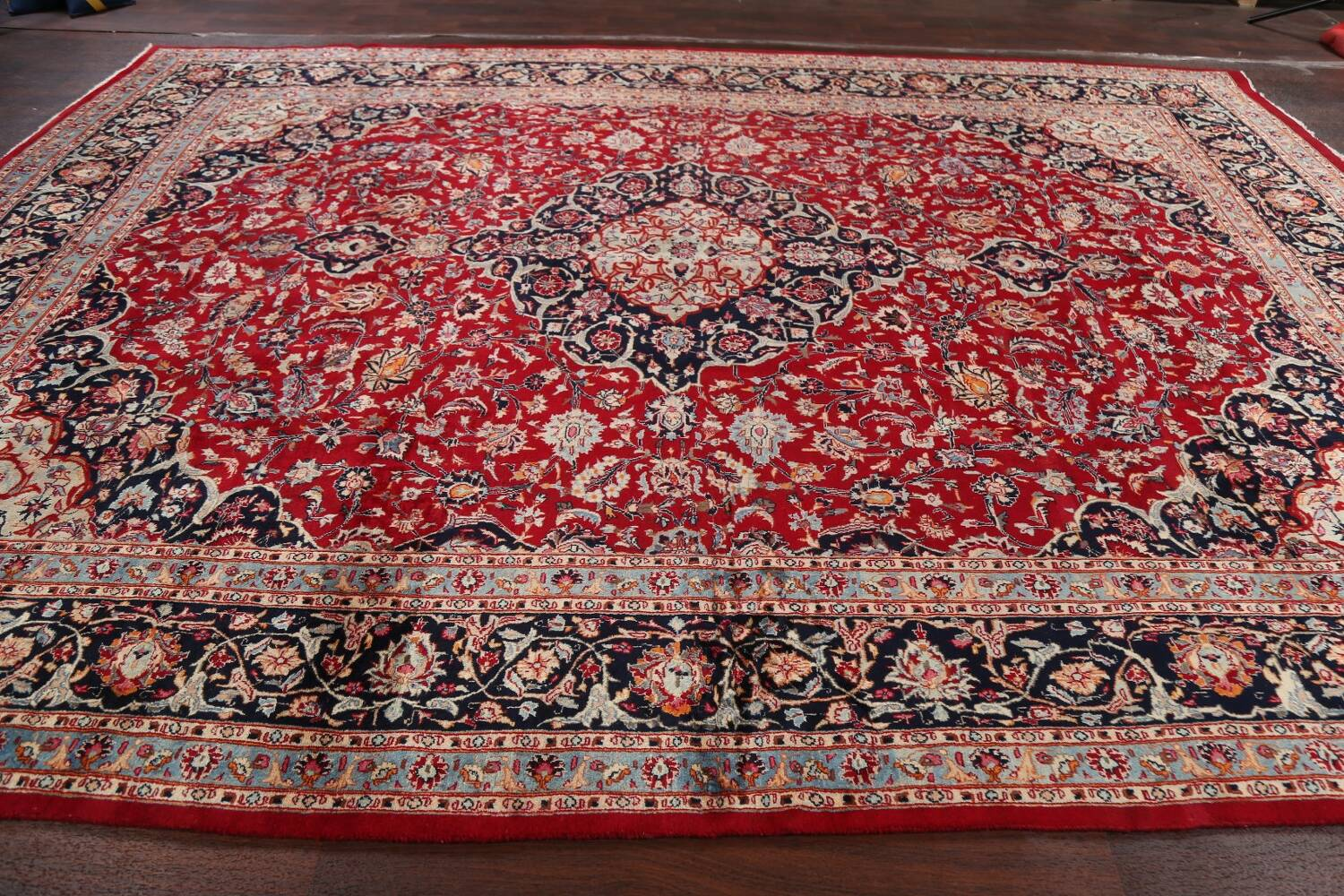 Floral Kashmar Persian Red Area Rug 10x13 image 19