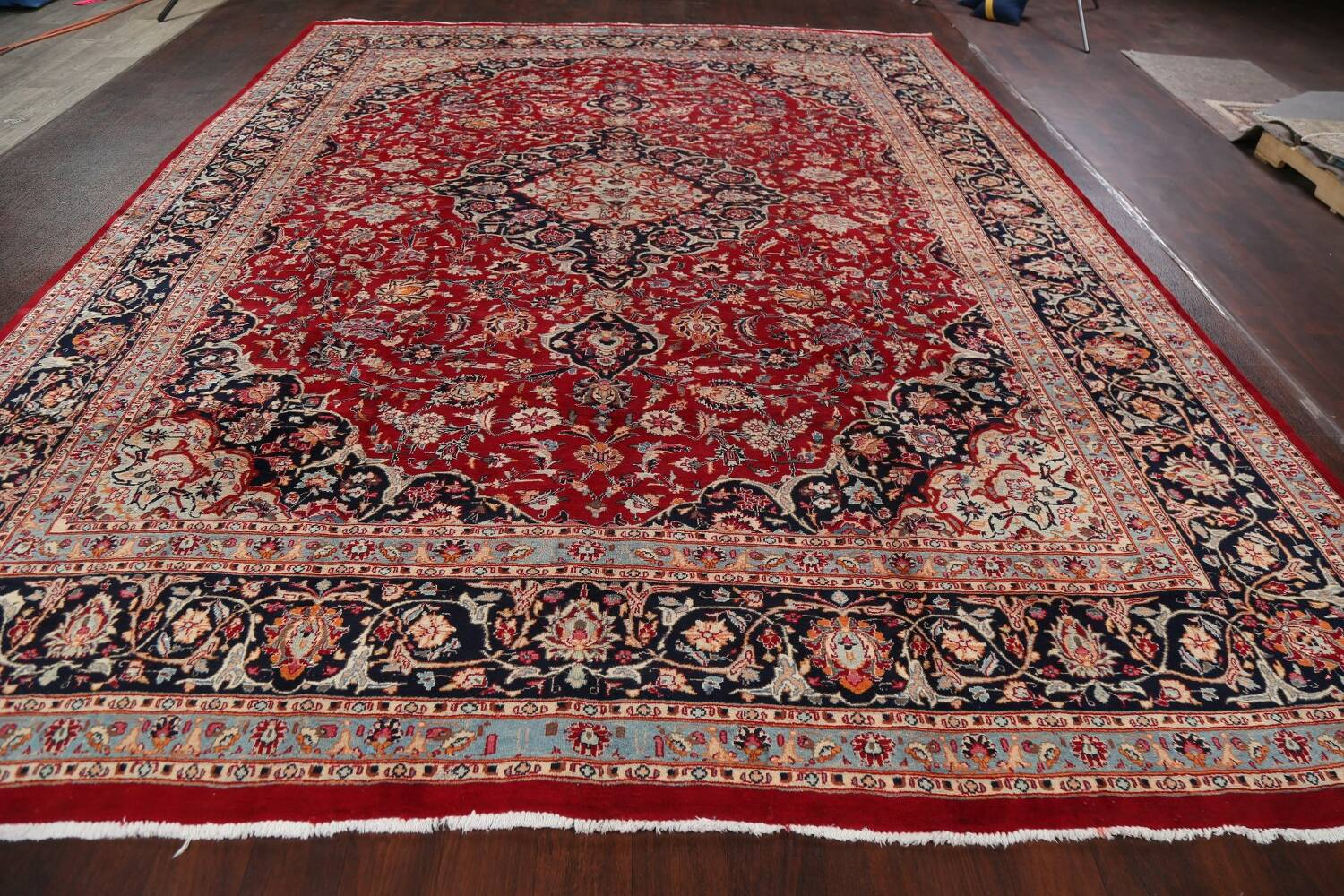 Floral Kashmar Persian Red Area Rug 10x13 image 20