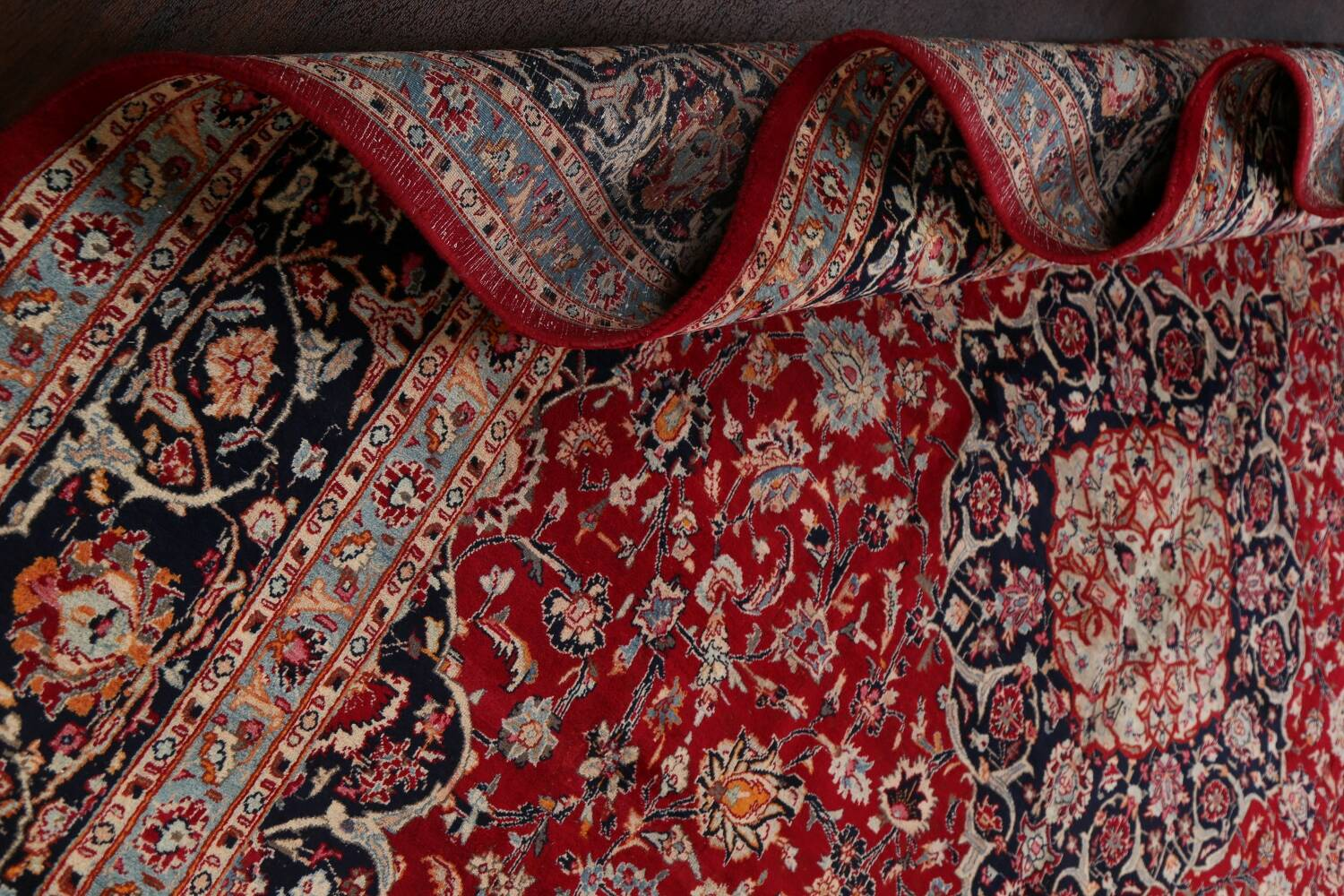 Floral Kashmar Persian Red Area Rug 10x13 image 22