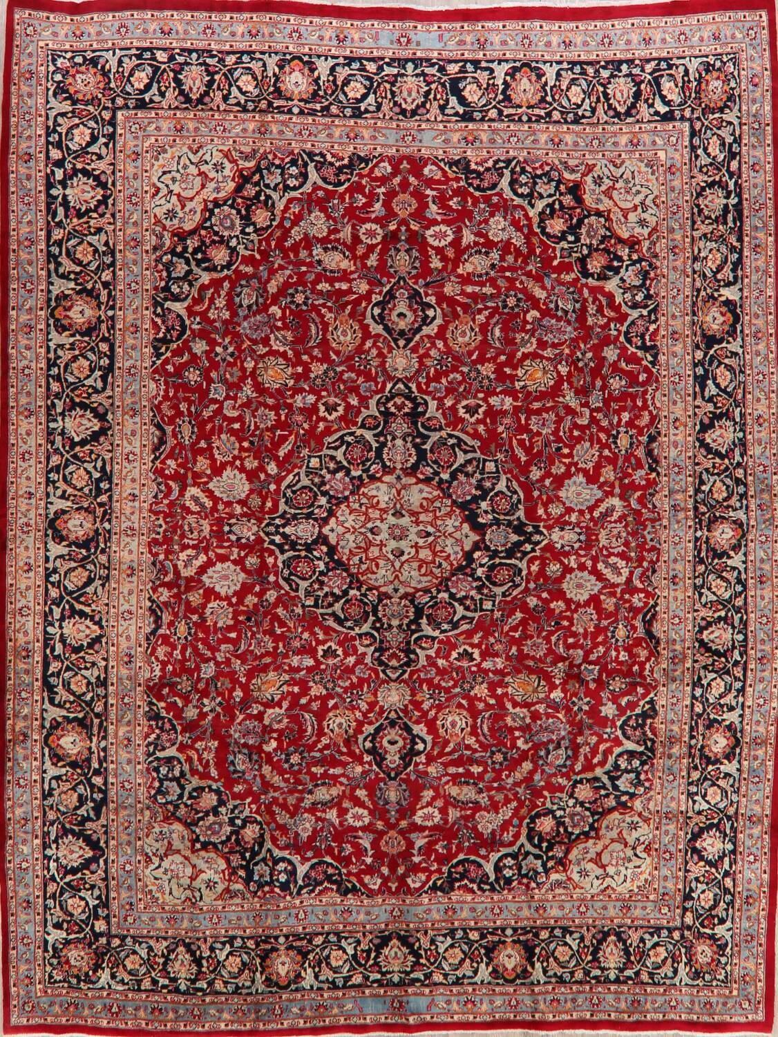 Floral Kashmar Persian Red Area Rug 10x13 image 1
