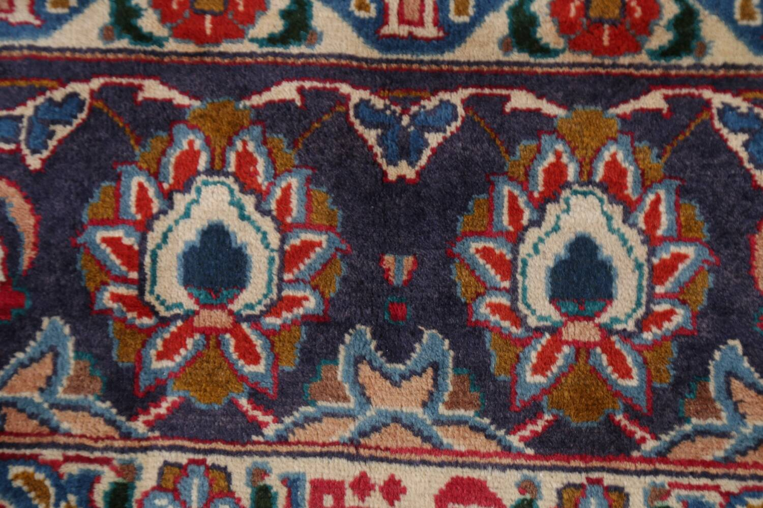 Vintage Floral Mashad Persian Red Area Rug 8x11 image 9