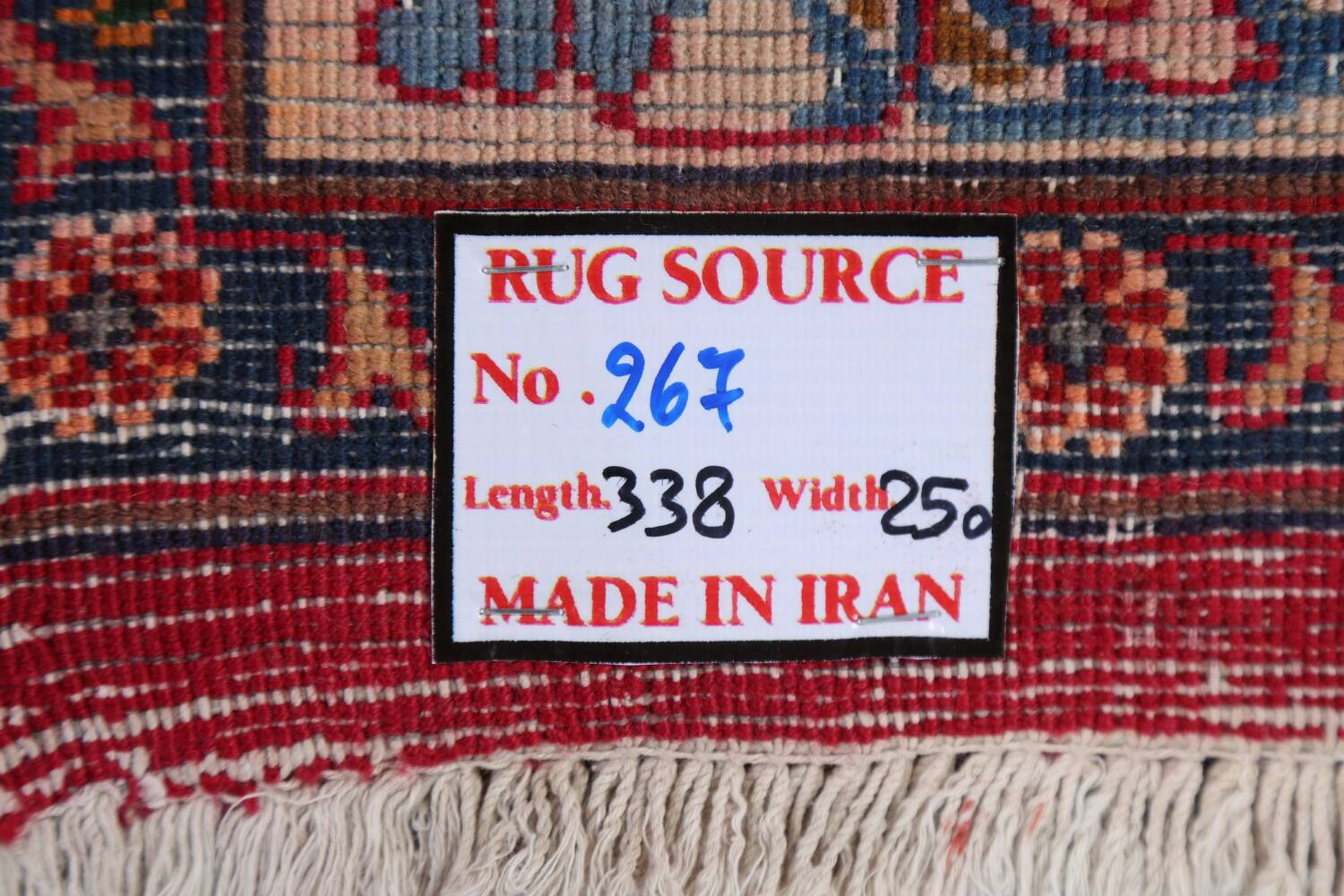 Vintage Floral Mashad Persian Red Area Rug 8x11 image 22
