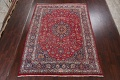 Vintage Floral Mashad Persian Red Area Rug 8x11 image 2