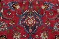 Vintage Floral Mashad Persian Red Area Rug 8x11 image 10