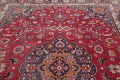 Vintage Floral Mashad Persian Red Area Rug 8x11 image 13