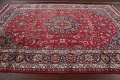 Vintage Floral Mashad Persian Red Area Rug 8x11 image 15