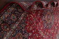 Vintage Floral Mashad Persian Red Area Rug 8x11 image 18