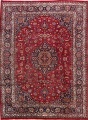 Vintage Floral Mashad Persian Red Area Rug 8x11 image 1