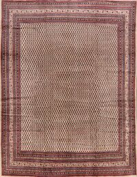 Vintage All-Over Boteh Botemir Persian Area Rug 9x12