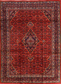 Geometric Red Mahal Persian Area Rug 9x13