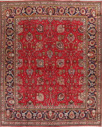 All-Over Red Floral Tabriz Persian Area Rug 8x10