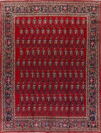 Paisley Red Tabriz Persian Area Rug 9x12