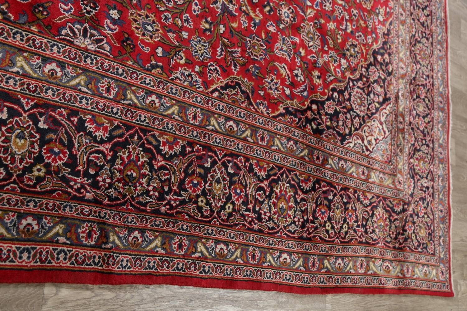 Vintage Floral Mashad Persian Red Area Rug 9x13 image 16