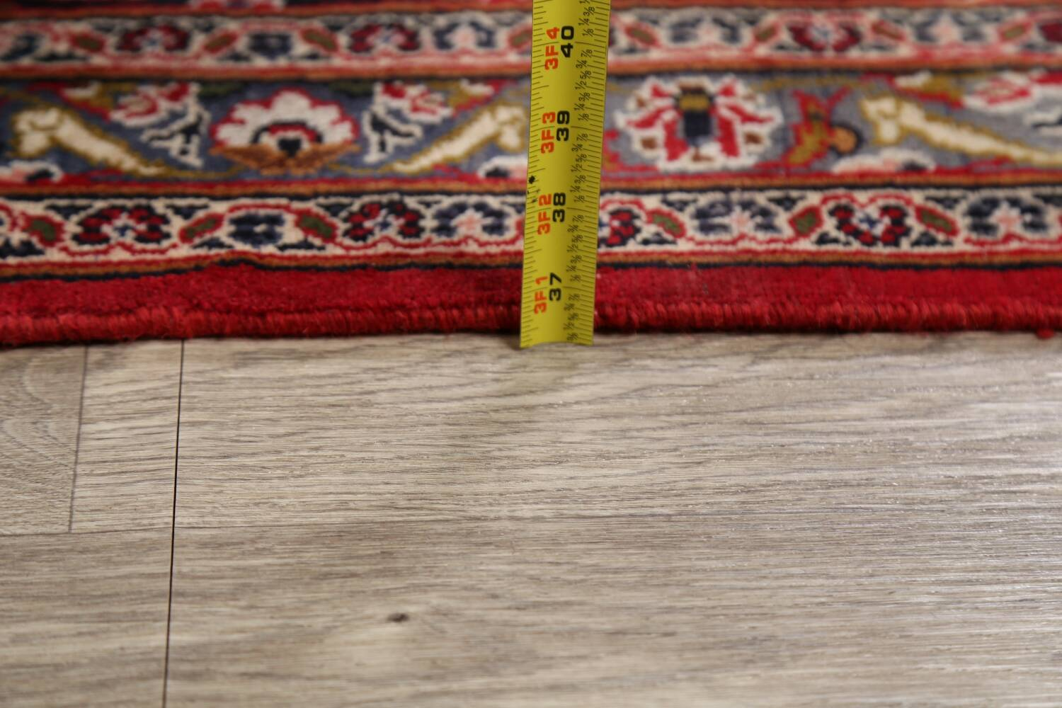 Vintage Floral Mashad Persian Red Area Rug 9x13 image 25