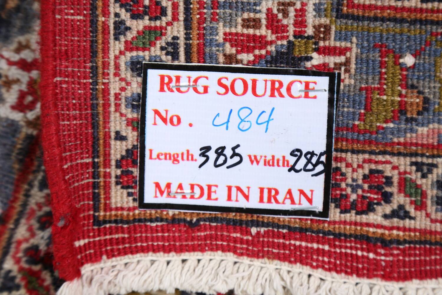 Vintage Floral Mashad Persian Red Area Rug 9x13 image 27