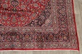 Vintage Floral Mashad Persian Red Area Rug 9x13 image 5