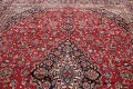 Vintage Floral Mashad Persian Red Area Rug 9x13 image 15